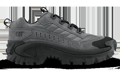 Les chaussures de la marque Caterpillar, modèle Intruder couleur gris