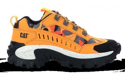 Les chaussures de la marque Caterpillar, modèle Intruder couleur jaune