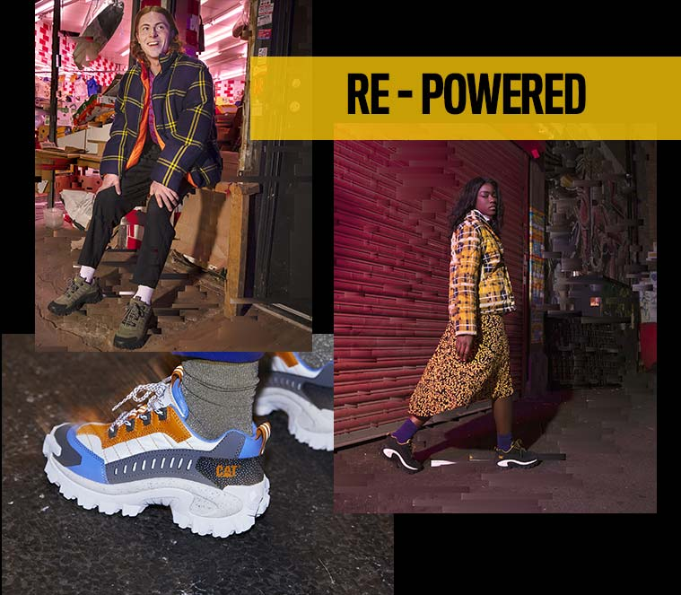 Les chaussures de la marque Caterpillar, collection re-powered
